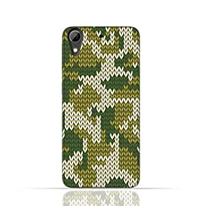 HTC Desire 626 TPU Silicone Case With Knitted Camouflage Pattern Design