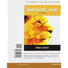 Absolute Java, Student Value Edition Plus MyProgrammingLab with Pearson eText -- Access Card Package (6th Edition) by Walter Savitch (2015-05-29)