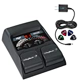 DigiTech RP55 Multi-FX Pedal with Built-In Guitar Tuner -INCLUDES- Blucoil Power Supply Slim AC/DC Adapter for 9 Volt DC 670mA AND 4 Blucoil Guitar Picks