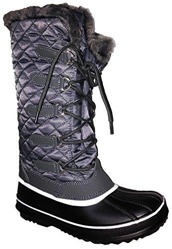 Kvinner Vinter Kaldt Vær Snowboots Snøre På Glidelås (vipfootwear) Frozen02_gray