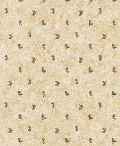 Brewster 145-62645 Northwoods Lodge Oxford Beige Pinecones Wallpaper