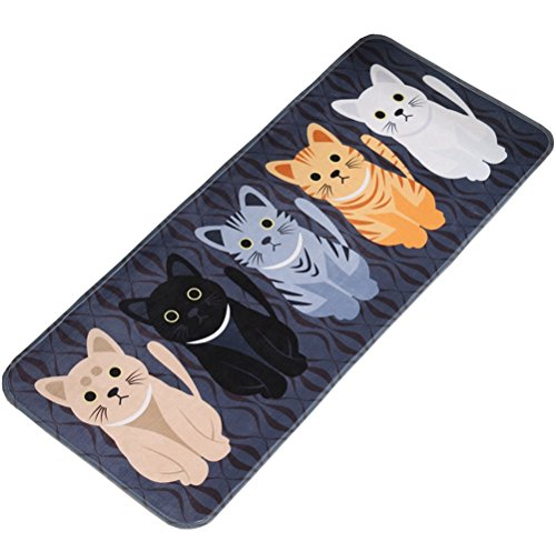 LivebyCare Multi-Size Animal Cartoon Area Door Mat Runner Non-Slip Floor Rug Doormat Decorative Entry Carpet Decor Front Entrance Indoor Outdoor Mats for Play Room Parlour Halloween Party Hotel ()