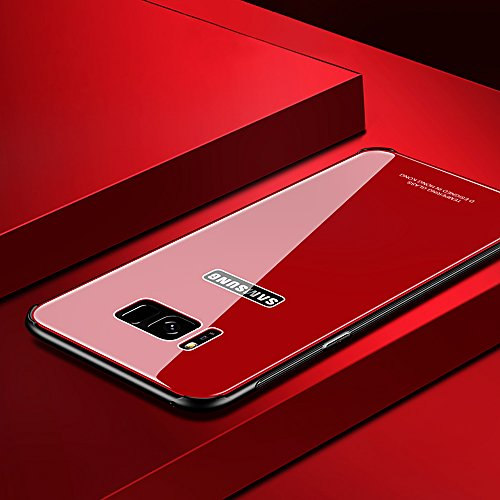 Carcasa Samsung Galaxy Note8, Marco Dorado de lujo SXUUXB Patrón Elegante [3 en 1] Caja Protectora de silicona Flexible + Funda Dura para PC + Claro Posterior Skin Cubierta para Samsung Galaxy Note8 5 Rojo