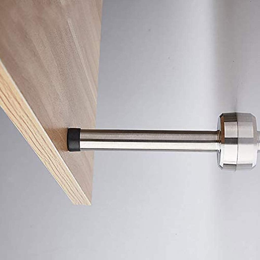 Guoguocy Door Stops Door Stop Stopper Wall Mounted Mount Doorstop Heavy Duty Stainless Steel Rubber Buffer T,Silver,25cm Size : 15cm