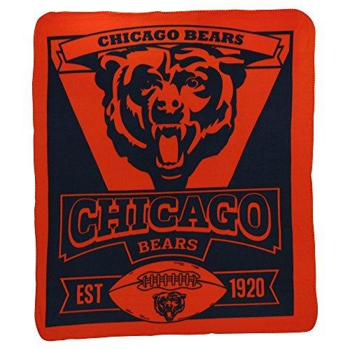 Northwest NFL Marquee Logo Lightweight Chicago Bears Fleece Blanket (Blanket Chicago Bears Soft Northwest)