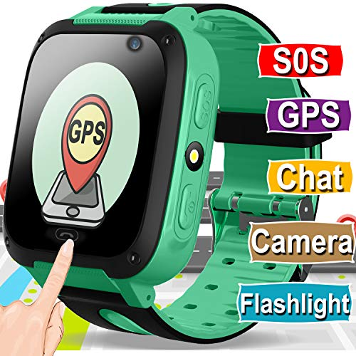 Kids Smart Watch Phone for Girls Boys GPS Tracker with Cellphone SOS Anti-lost Camera Game Smart Watch Digital Wrist Watch Bracelet for Sport Outdoor Learning Toys Birthday Halloween Gifts
