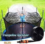 FULIM Trampoline Sprinkler for Kids, Outdoor Trampoline Sprinkler for Kids and Adults Waterpark, Trampoline Ac