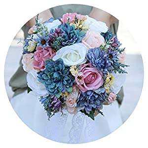 Romantic 2019 Wedding Flowers Bridal Bouquets White Pink Purple Blue Country Garden Bohemian Bridal Bouquet de Mariage 111
