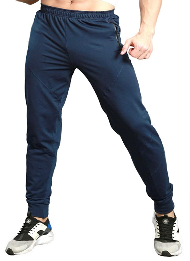 TBMPOY Men's Athletic Running Sport Jogger Pants with Zipper  Pockets(Black,us XS): Clothing cjp.org.in