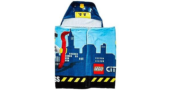 LEGO City Kids con capucha Wrap para toalla de baño, piscina o playa: Amazon.es: Hogar
