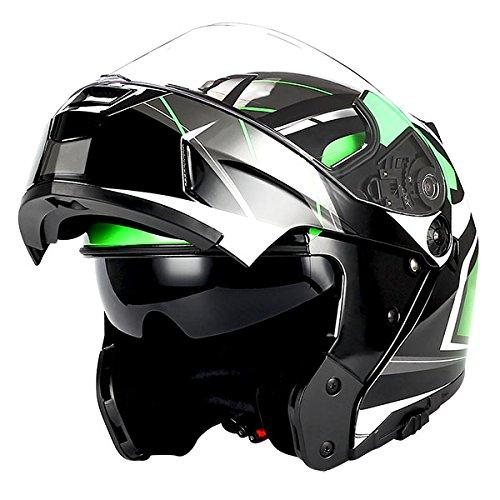 1Storm Motorcycle Modular Full Face Helmet Flip up Dual Visor/Sun Shield Racing ()