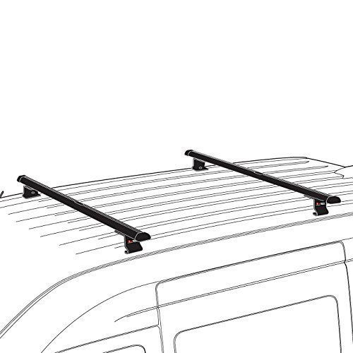 Black Transit Connect J1000 bolt-on ladder roof rack 50