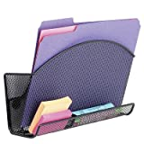 Onyx Magnetic Mesh File Pocket with Accessory Organizer in Black (Set of 6) [Set of 6]