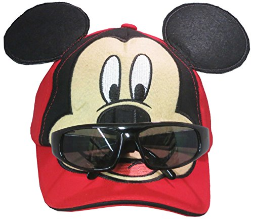 Disney Mickey Mouse Boys Baseball Cap with Removable Sunglasses - Baseball Hat Sunglasses