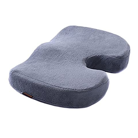 Memory Foam Coccyx Orthopedic Cushion Office Chair Seat Pain Relief Pillow Gray