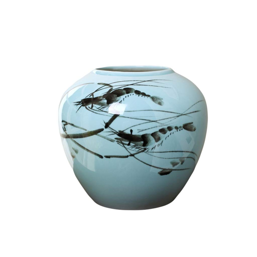 MAHONGQING 花瓶現代の新しい中国の花瓶の装飾景徳鎮セラミック花瓶フラワーアレンジメントテレビキャビネットリビングルーム家の装飾 (Size : S) B07S1FTRLQ  Small