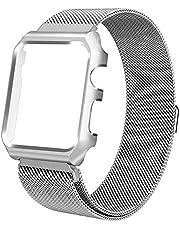 Pulseira Milanese case Para Apple Watch 40mm Aço Inox prata
