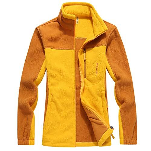 Felpata Elegante Basamento Donna Giubbotto Maglione Cutude Giallo Giacche Coat Invernale Cappotto Giacca zwRWtBq