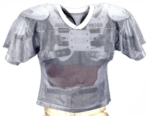 Youth Porthole Mesh (Adams Youth Porthole Mesh Practice Football Jersey - White-L)
