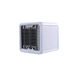 Personal Air Cooler Air Conditioner Fan,Portable Mini Air Conditioner Cooler Desktop Household Cooling Fan Office Air Humidifier(White)