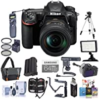 Nikon D500 DX-format DSLR Body with AF-S DX Nikkor 16-80mm f/2.8-4E ED VR Lens Bundle with 64GB SDxC U3 Card, Camera Bag, Tripod, Spare Battery, Remote Shutter Trigger, Video Light, Shotgun Mic, More