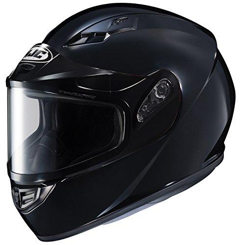 HJC Helmets CS-R3SN Unisex-Adult Full Face Snow Helmet with Framed Dual Lens Shield (Black, X-Large)