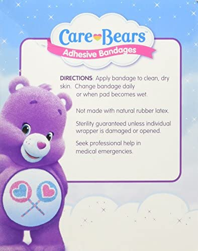519IIv9twrL. AC - Care Bears Bandages - First Aid Supplies - 100 Per Pack