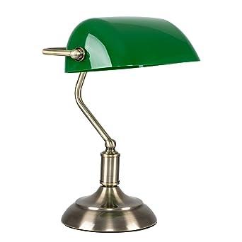 Minisun Lampe Banquier Notaire De Chevet Bureau Lampe A Poser Laiton