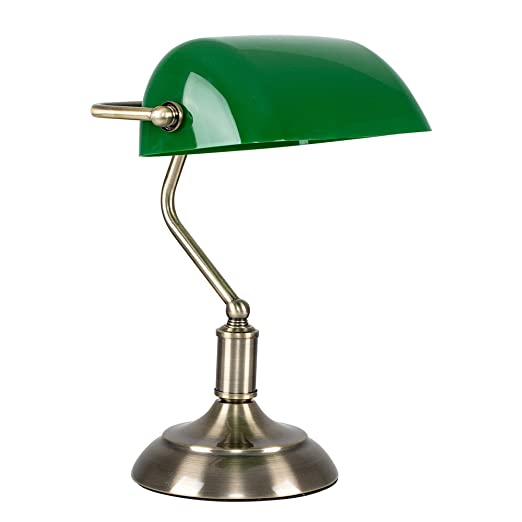 Traditional style antique brass green bankers touch table lamp traditional style antique brass green bankers touch table lamp aloadofball Gallery
