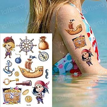 HXMAN 5 Unids Tatuaje Temporal Pegatina Niños Tatuajes Animales ...