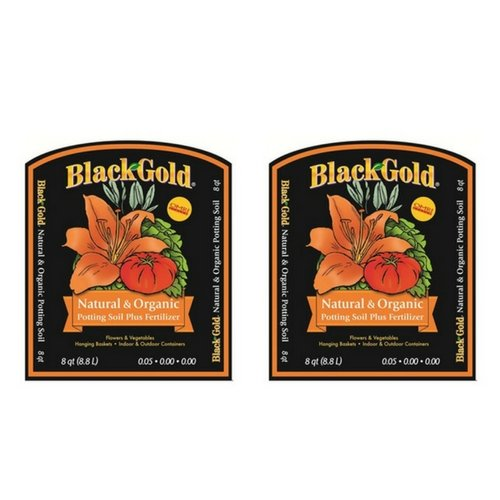 Black Gold 1302040 8-Quart All Organic Potting Soil … (2 Pack)