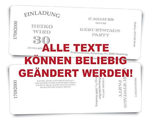 40 Geburtstagskarten Geburtstagseinladungen Geburtstagseinladungen Geburtstagseinladungen Einladungskarten  Stripes  - beige - Ticket Eintrittskarte mit Abriss-Coupon B076GRKLMH | Große Auswahl  | Won hoch geschätzt und weithin vertraut im in- und Ausland vertraut  | Düsseldorf Eröffnung  6d6525
