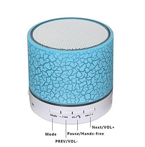 Sudroid Mini Wireless Bluetooth Speaker USB Music Sound Box Subwoofer with Mic (support TF Card)-blue