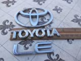 toyota chrome logo emblem - 98-02 Toyota Corolla Ce Rear Trunk Chrome Symbol 75431-12050 Emblem 75441-12770 Logo 75444-1A260 Set of 3