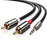 UGREEN 3.5mm to 2RCA Audio Auxiliary Stereo Y Splitter Cable (6ft)