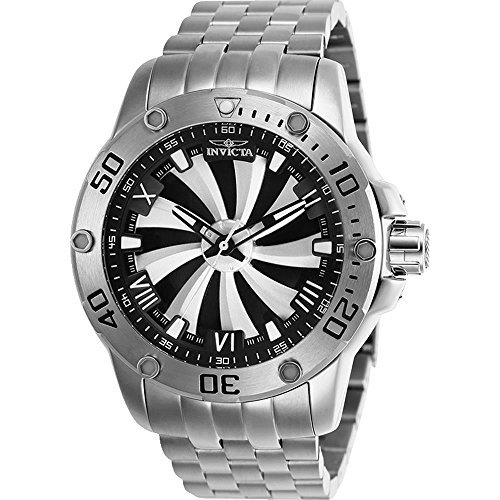 - Invicta Men's 25847 Speedway Automatic Chronograph Silver, Black Dial Watch