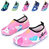 Vivay Kids Swim Water Shoes Girls Boys Lightweight Quick-Dry Barefoot Aqua Socks
