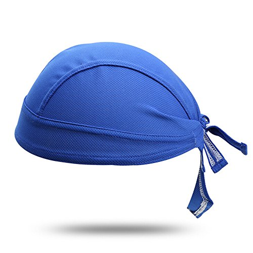 Ezyoutdoor Blue Cycling Bandana Headscarf Sweat Beanie Cap Adjustable Hat Chemo Cap Skull Cap Head Wrap For Men and Women Fits under Helmets and Baseball - Design Store Nyc Japanese