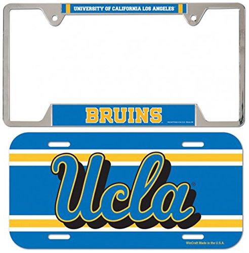 Bundle 2 Items: UCLA Bruins 1 Metal License Plate Frame and 1 Thin Plastic License - Flag Bruins Ucla Car
