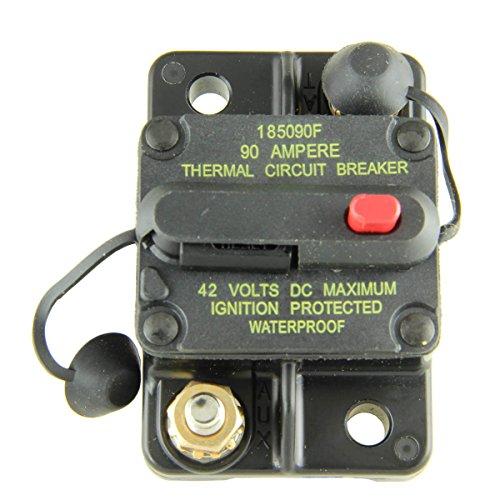 (Bussmann CB185-90 90 Type Iii Flush Mount Switchable/Manual High Amp Circuit Breaker, 30Vdc, One Per Box (1-Pack))