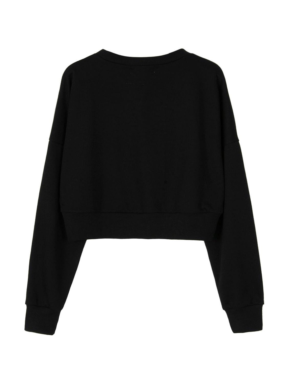 Joeoy Womens Casual Striped Long Sleeve Crop Top Sweatshirt Pullover