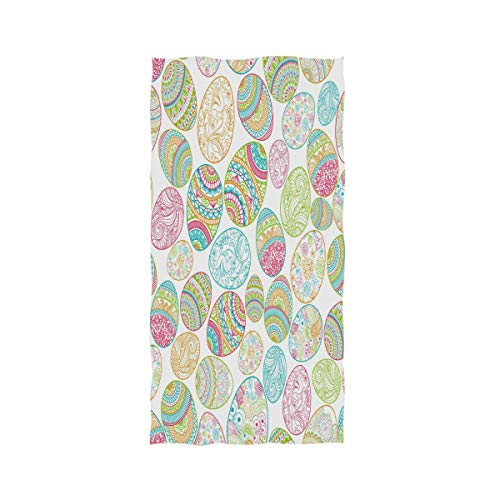 (Happy Easter Colorful Egg Extra Large Hand Towels 30 X 15 Inch,Spring Holiday Bunny Floral Bath Bathroom Shower Towels Hand Washcloth Fingertip Towels Highly Absorbent for Hand,Face,Gym)