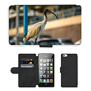 PU LEATHER case coque housse smartphone Flip bag Cover protection // M00112881 Pájaro de Ibis Sydney Australia Fly // Apple iPhone 5 5S 5G