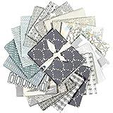 Art Gallery Fabrics Exclusive Bundle 20 Fat Quarters Grey