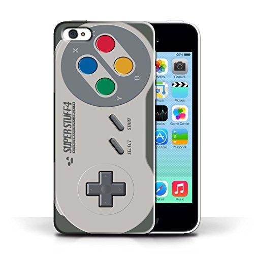 iCHOOSE Print Motif Coque de protection Case / Plastique manchon de telephone Coque pour Apple iPhone 5C / Collection Console (jeux vidéo) / Super Nintendo