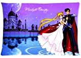 LOOKiigre Anime Series Sailor Moon Two Sides DIY Printed Custom Rectangle Pillow Case 20x30 inch (20x30 inch, 30)