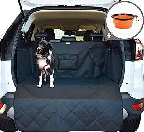 Pullpritt Universal Auto Kofferraumschutz Wasserdicht Autoschondecke Kofferraumdecke Mit 2 Taschen Schwarz 190x120cm Haustier