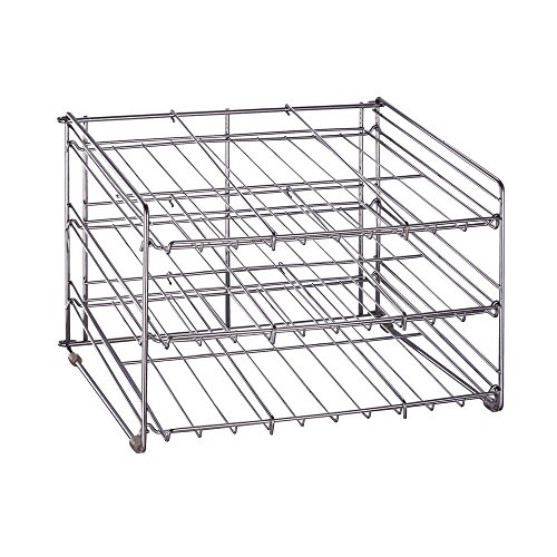 Chrome Wire Can Storage Rack - (15.87 in. x 18 in. x 12.75 in.) Slanted 3 Tier Design, Perfect Storage For Any Kitchen by Neu Home