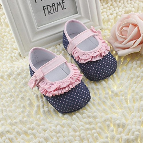 Por 0-18 meses bebé,Auxma Zapatillas suaves para niños pequeños Toddler