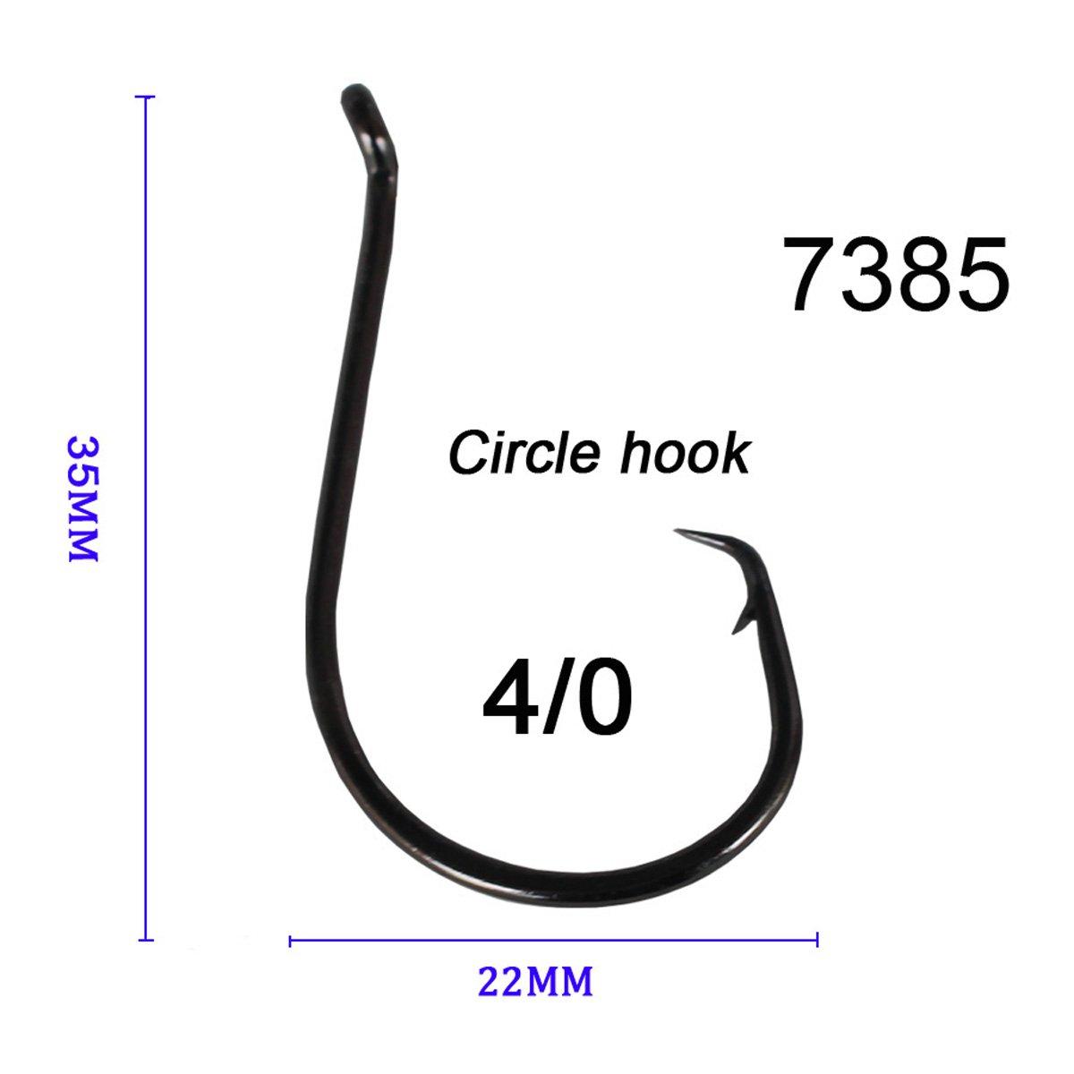 Wallerhaken Meereshaken Gamakatsu Octopus 4 Strong Circle Hook 6 Kreishaken